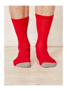 SOLID JACK SOCKS - RED - Thought | Braintree