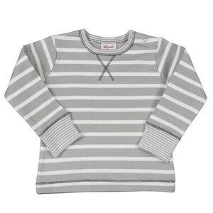 Langarmshirt - helles grau geringelt - People Wear Organic