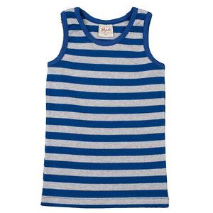 Unterhemd - blau geringelt - People Wear Organic