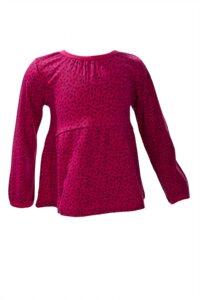 Langarmshirt - pink gemustert - People Wear Organic