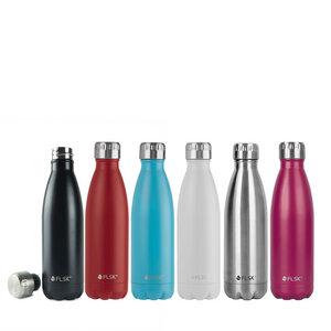 Isolierte Edelstahl Trinkflasche 0,5 Liter - FLSK