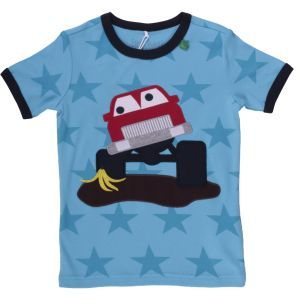 Kurzarmshirt Monstertruck - Green Cotton