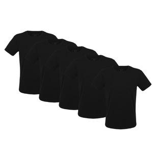Herren T-Shirt 5er Pack in schwarz - Fairtrade & GOTS zertifiziert - MELAWEAR