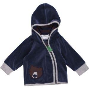 Kapuzenjacke Bear velvet jacket navy - Green Cotton