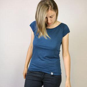 Bambus Shirt Basic Blau - Gary Mash