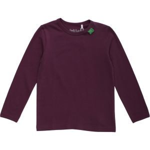 Basic Langarmshirt Alfa longsleeve T Wine - Green Cotton