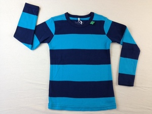 Big Stripe T boy - Green Cotton