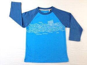 Raglanshirt Schiff blau - Kite