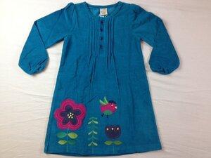 Kord Kleid Vögelchen türkis - Frugi