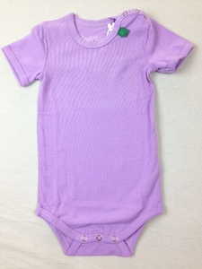 Kurzarmbody Alfa Violet - Green Cotton
