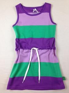 Block stripe tank dress - Green Cotton