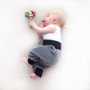 Baby Gemütlichkeitshose grau - bingabonga