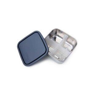 Edelstahl Brotdose - quadratisch - medium - mit Trenner - U-Konserve