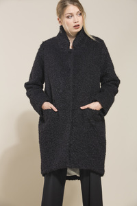 LANIUS- modischer Bouclecoat im Oversize-Look - Lanius