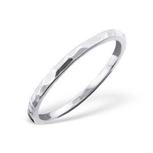 Ring mit Struktur aus 925er Sterling Silber - LUXAA