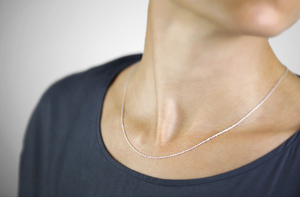 Zarte Halskette aus 925er Sterling Silber - LUXAA
