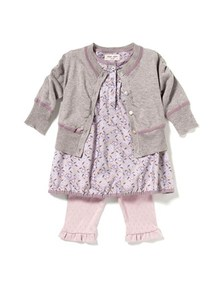 Baby Basic Cotton-Melange Cardigan  - noa noa miniature