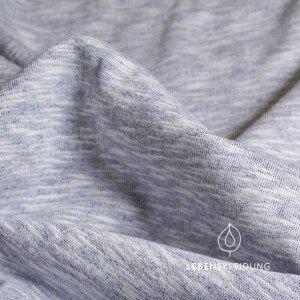 Winter-Sweat-Stoff vintage blau meliert - Lebenskleidung