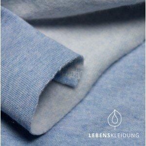 Winter-Sweat-Stoff hellblau meliert - Lebenskleidung