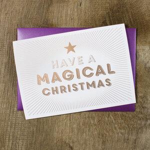 Grußkarte Magical Christmas - Bow & Hummingbird