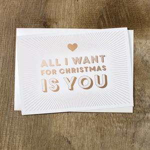 Grußkarte All I want ... - Bow & Hummingbird