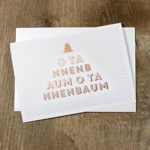 Grußkarte O Tannenbaum - Bow & Hummingbird