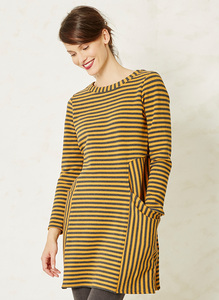 Arlborg Dress-Mustard - Braintree