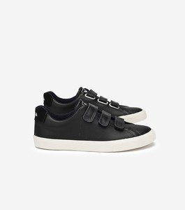 ESPLAR LEATHER 3-LOCKS - BLACK - Veja