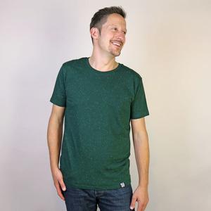 T-Shirt Basic Dunkelgrün Mélange - Gary Mash