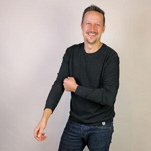 Sweatshirt Basic Schwarz - Gary Mash