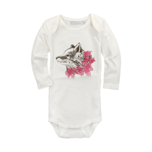 Langarm Babybody mit originellem Fuchsprint - luftagoon