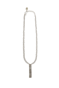 Minimal Post Necklace - Silver - People Tree