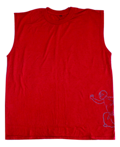 Mens Sleeveless Tee with Medicine Man - Chakura by Ku Ambiance