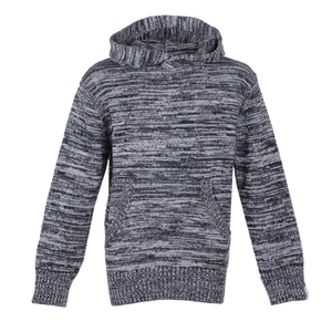 Strickkapuzenpullover (Black) - Band of Rascals