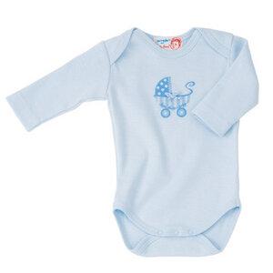 Langarm Body Kinderwagenprint blau  - Käthe Kruse