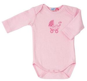 Langarm Body Kinderwagenprint rosa - Käthe Kruse