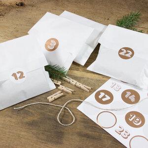 Adventskalender Weiß/Kupfer zum Befüllen - Bow & Hummingbird