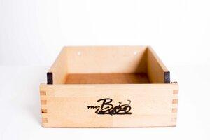 Fahrradwandhalterung aus Holz (Buche) und Leder - my Boo