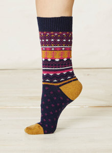 Sascha Socks-Navy - Thought | Braintree