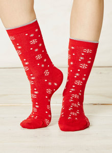Olwen Socks Cranberry - Thought | Braintree