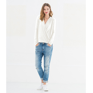Paulette wrap top - Offwhite - Miss Green