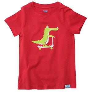 IceDrake Kinder T-Shirt Krokodil (rot) - IceDrake