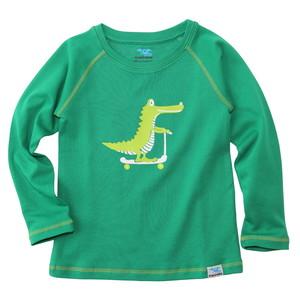 Kinder Langarm-Shirt Krokodil (grün) - IceDrake