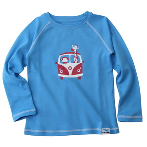 IceDrake Kinder Langarm-Shirt Affe, Giraffe (blau) - IceDrake