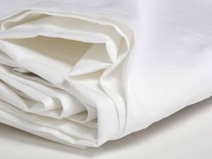 Laken Baumwollsatin Pure White - Yumeko
