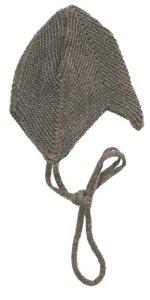 Gestrickte Baby Teufelsmütze mit Bindebändchen - Reiff