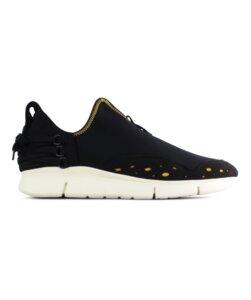 Bamboo Runner schwarz vegan - weiße Sohle - ekn footwear