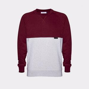YŪHI Raglan Sweater (Burgundy/Cream) - Rotholz