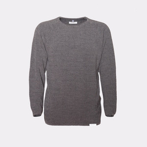 J.R. / Merino Strick-Sweater - Rotholz