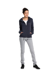Fair trade Zipper Frauen DELUXE #NAUTIC navy - recolution